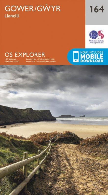 OS Explorer 164 - The Gower / Gwyr, Llanelli